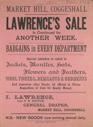 Advert For J. Lawrence, General Draper